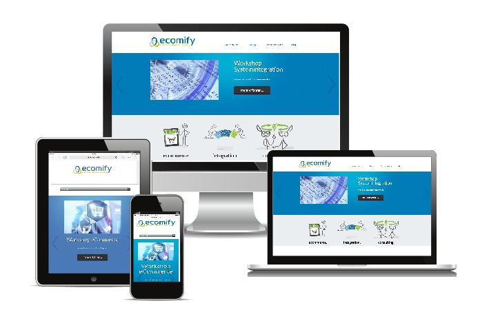 ecomify Webseite verschiedene Devices