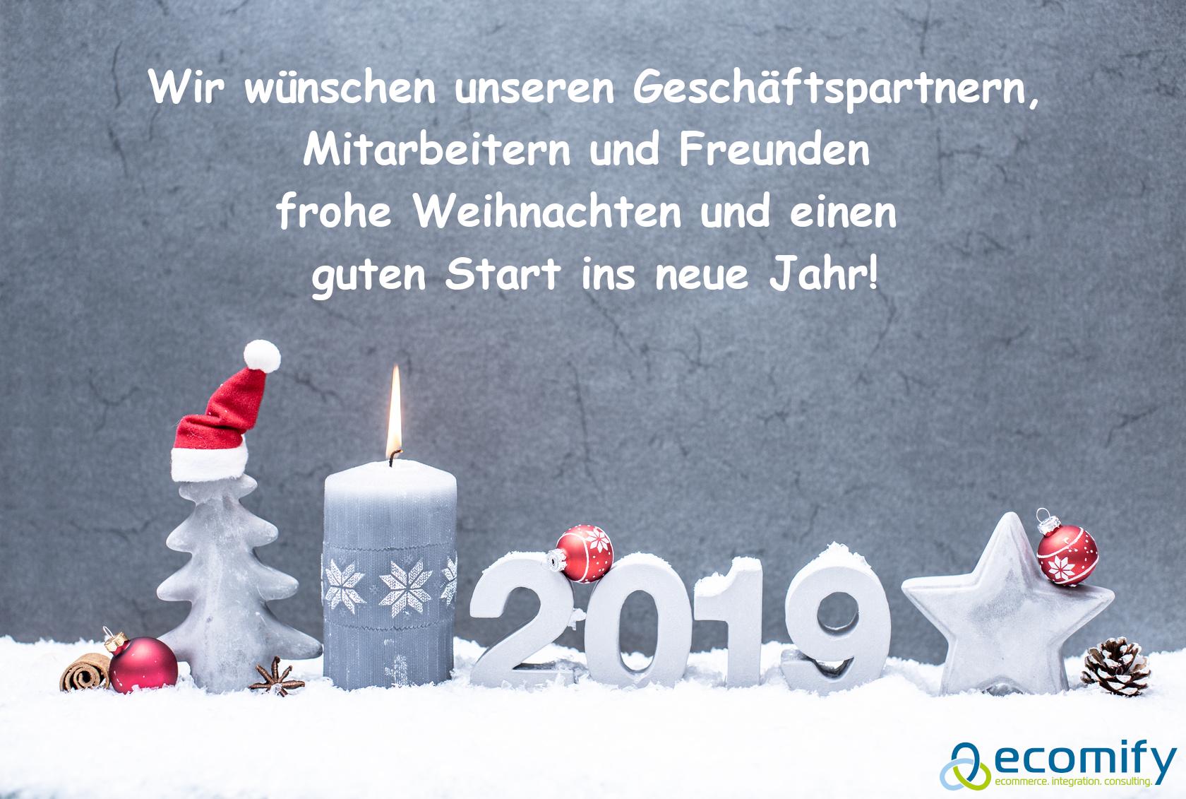 Wir wünschen unseren Geschäftspartnern, Mitarbeitern und Freunden frohe Weihnachten und einen guten Start ins neue Jahr!